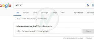 Aggiungi un sito o una pagina su Google (Add URL)