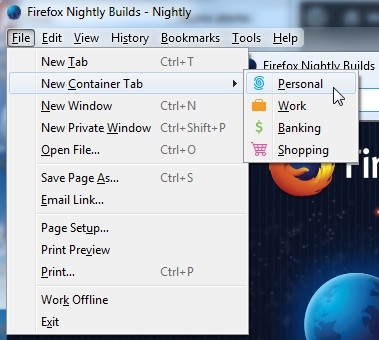 Firefox Nightly Profili