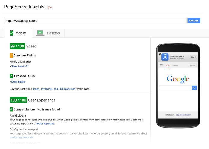 PageSpeed Insights Tools  Google Developers