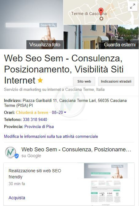 knowledge graph di google business