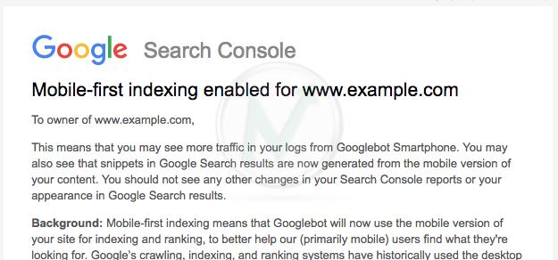 Indicizzazione e posizionamento Google mobile-first